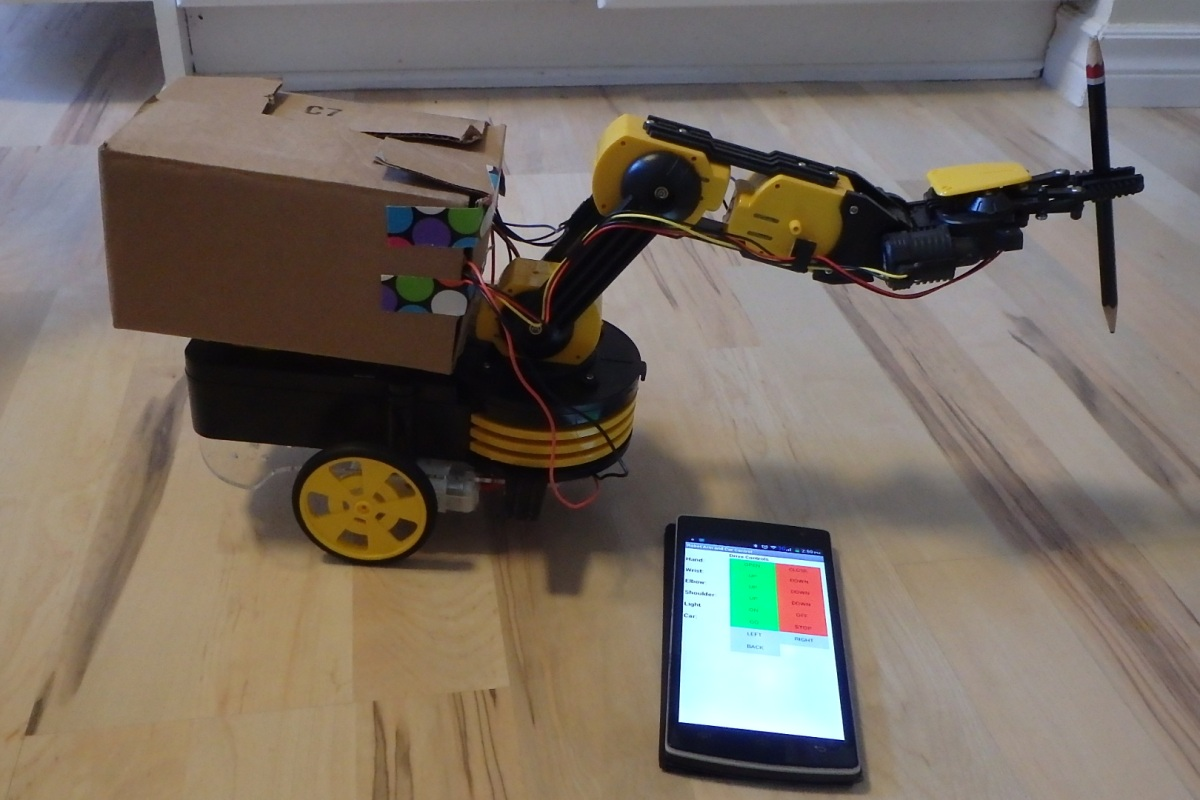 Android Controlled Robot Arm – Fun Tech Projects